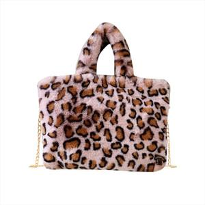 Summer Fashion Women Bag Crossbod Fashion Woman Leopard Pattern Plush Handbags Autumn And Winter Shoulder Bag 1019