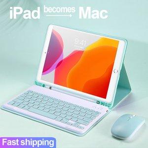 Caso para iPad 10.9 10.2 8º 7º 6º Teclado de la 5ª generación 2017 2018 2019 2020 para iPad Pro 9.7 10.5 11 AIRE 1 2 3 4 Funda del mouse