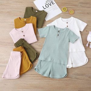 Baby Boy Girl Clothe Clothing Set Short Sleeve Shirt Shorts 2 pcs Fashion Infants Ins Boutique Wear Summer Suit Outfits 2021