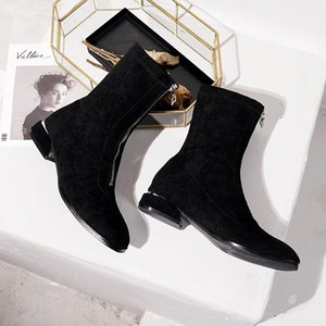 Hot Sale-Cheap Boots 2019 Winter Boots Ladies Scrub Booties Women Outdoor Boots High Quality Shoes 2020 Wholesale New
