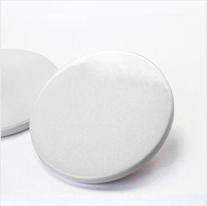 9cm Sublimation Blank Ceramic Coaster White Ceramic Coasters Heat Transfer Printing Custom Cup Mat Pad Thermal Coasters LJJP762