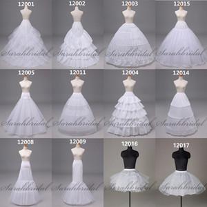 12009 Taille libre de sirène de mariage Robes de mariée Jupon Jupon Crinoline Sans baisse Target livraison Hoop deux couches