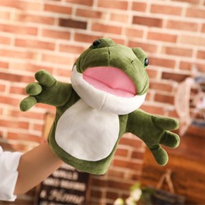Frog Hand Puppet Plush Comfort Toy Kindergarten Parent Child Interactive Performance Small Animal Gloves Doll Mouth Movement