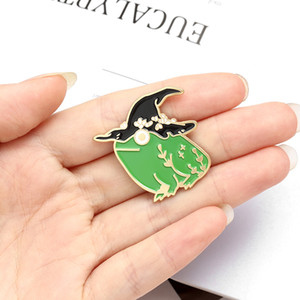 Halloween Wizard Hat Frog Enamel Lapel Pins Cute Magic Brooches Badges Fashion Pins Gifts for Friends