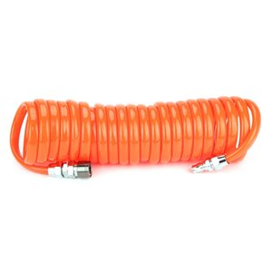NEW 6 9m Compressed Air Transport Retractable PU Pneumatic Hose+1 4in Connector
