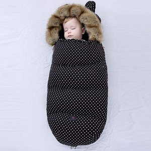 Thick Warm Envelope For Newborns Baby Stroller Sleeping Bag 0-24M Baby windproof warm thick cotton pad Cocoon For Newborns 201208