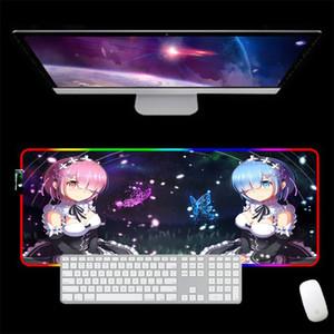 RGB 3D sexy garota esteira pulso descanso rato mouse pad otaku presente de aniversário de presente computador jogador gamer rem re re reit zero lj201031