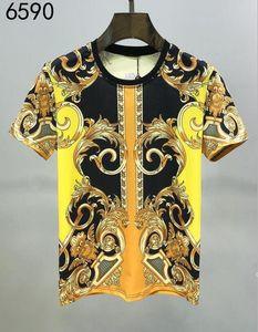 2020SS Primavera e estate Nuova stampa di cotone di alta qualità T-shirt a maniche corte a manica corta T-shirt T-shirt T-shirt: M-L-XL-XXL-XXXL Colore: Black White # 0066