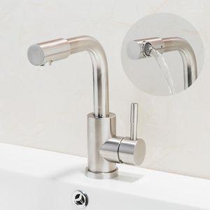 جديد 304 الفولاذ المقاوم للصدأ نحى حمام حوض صنبور الحمام الحنفيات بالوعة خلاط صنابير الغرور الساخنة والباردة المياه خلاط 1