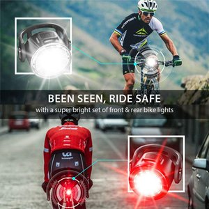 Bike Light Set - Super Bright LED Lights for Your Bicycle - Easy to Mount Headlight and Taillight with Quick Release System - Best Front and