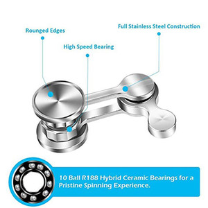 A001 Chaotic Pendulum Hand Spinner 304 Stainless Steel Fidget Spinner Metal Adult Decompression Swing Toys Creative Birthday Gift
