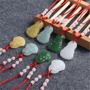 Femmes Mens Collier Mode Collier Bijoux Imitation Blanc Jade Chaîne Buddha Long Tag Pendentif Hot Sale 0 7YF J2B