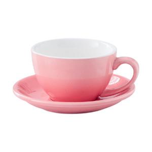 220ml Keramik Kaffeetassen Latte Cappuccino Tassen Nachmittag Tee Becher mit Untertasse Geburtstag Kaffeetasse Set ppd4140