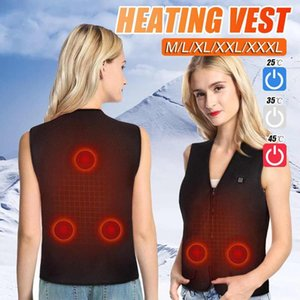 2020 M-4XL Electric Vest Heated USB Thermal 5 Heating Areas Body Warmer Black Keep Warm Winter Heated Pad Hot Physiotherapy