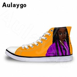 Aulaygo eleganti africano ragazza della stampa per bambini scarpe per bambini della ragazza di marca di modo di sport della tela di canapa casuale della scarpa da tennis all'aperto bambino Flats 0nEd #
