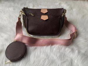 Bolso de mujer Messenger Bolsas de hombro bolsa de cadena Bolsa de cuero de buena calidad Monederos de cuero Bolsa 3 Unids / set
