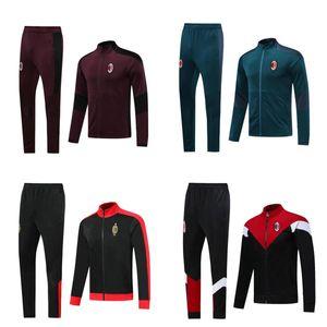 2020 2021 AC Piatek Kaka Football Football Suit Veste Veste Survèrent 19 20 Maillot de Foot Ibrahimovic Milan Football Tracksuit