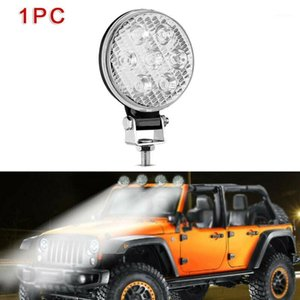 1 2 4pcs Round 21W 3030 7-LED Spot Work Lights Car Truck SUV Boats Lamps 9V-30V Widely Used For Automobile, Motorcycle And Boats1