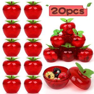 웨딩 파티는 1027 20PCS 애플 컨테이너 장난감 채워진 플라스틱 보빈 장식 과일 나무 사과 생일 / 웨딩 장식을 부탁