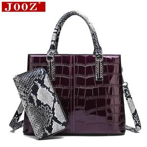 JOOZ Mode Krokodilmuster Frauen Beutelset Ledertasche Handtaschen Female Composite-Taschen mit Serpentine Geldbeutel
