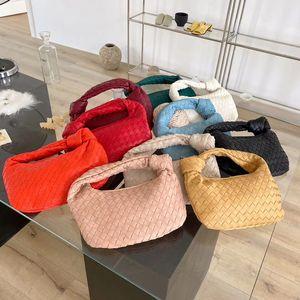 2020 Fashion Handmade Woven Luxury Vegan Leather Printed Shoulder Bag Lady Crossbody Hobo Knotted Handle Casual Handbag Q1106