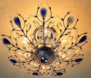 جديد الثريا كريستال الخفيفة رائع ذهبية فضية اللون اللمعان الثريا الإضاءة لاعبا اساسيا الخيالة سقف Lamparas Llfa