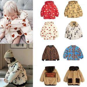 Пальто на палочке 2021 мини R дети зимняя одежда мальчики куртки капюшоны теплые детские девочки меховые пальто из хлопчатобумажных туалетов