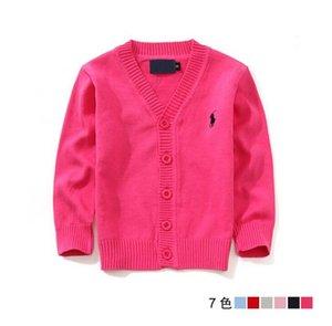 2020 nuovi bambini di Top vestiti di marca 100% maglione del bambino cotone di alta qualità bambini outerwear ragazza maglione Ragazzo maglione con scollo a V Polo Maglioni -5