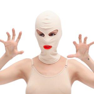 연간 장력을 증가 유혹 페티쉬 성인 게임 커플 Y 구속 탄성 에로틱 후드 눈가리개 장난감