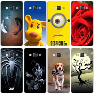 Original Colorful Mobile Phone Cases Cover for Samsung Galaxy E5 E500 SM-E500FDS Full Back Covers Hard Plastic Printed Case
