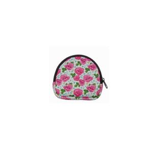 Neoprene Semicircular Portable Mask Bag, Coin Purse, Waterproof Earbud Case Bag With Keyrings OWE2111