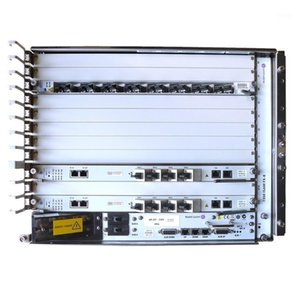 19-Zoll-Chassis Alcatel Lucent Bell OLT 7360isam FX-8 mit Fant-F, Power und FGLT 16 Ports PON CARD.1
