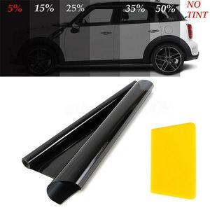 50 * 600 cm Film Pencere Araba Tonu VLT Siyah Rulo Oto Sticker Pencere Cam Ev UV Yaz Güneş Kremi Yapışkan Film W / Pamuk Stick1