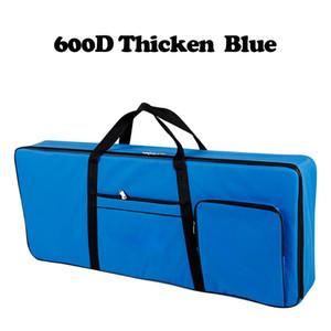 600D Thicker нейлон 61 ключевой инструмент Клавиатура сумка сгущает Водонепроницаемый фортепиано Обложка чехол для электронных Q1106