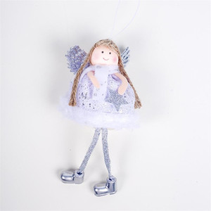 Lovely Angel Girl Doll Christmas Tree Pendants Hanging Ornaments Gifts Xmas New Year Party Decor Home Decoration DHL GWA3379