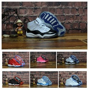Top Classic 11 Kids Shoes Trainers Designer New Bred Concord Gym Red Pink Space Jam 11s Basketball Shoes For Big Small Boys Girls Kid