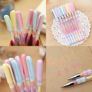 0.8mm 6 Farbwechsel Pen Papier fluoreszierende Farbe Pens Bleistifte Schreibmarker Leuchtmarker Highlighter Pens Kindermal Geschenk