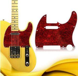 Tortoise Shell Red накладка Pick Guard для Tuff собака Tele Телепередачи Стандартных электрической гитара несколько цветов 3ply Aged Pearloid накладки