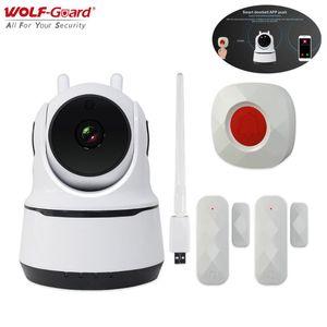 Wolf-Guard 2in1 Smart Home Automatisation Vidéo Camera Alarm Alarm 1080p HD 868MHz Intercom Applom Control House Security System