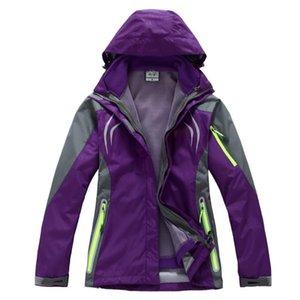 Autumn & Winter Windproof Waterproof WOMEN'S Jacket Outdoor Warm Fleece Disassembly Two-Piece Set Mountaineering Three-