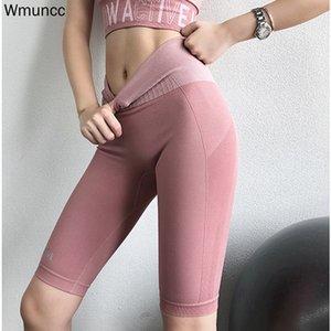 WMuncc Nahtlose Leggings Sport Gamgings Fitness-Gymnastik Laufen Tight Yoga Athletic Gym Workout Yoga Hosen Knielänge 201103