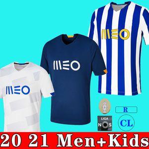 20 21 Porto Fußball Jersey 20 21 FC Camisetas de Fútbol Pepe Aboubakar Marega Nakajima Marcano 2020 2021 Futebol Clube Männer Kids Kit