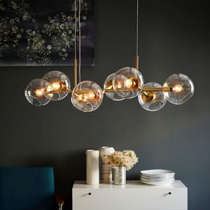 Nordic Loft Glass Ball Pendant Lights Creative Molecule Design Winehouse Living Room Kitchen Bar E14 Hanging Light Fixtures