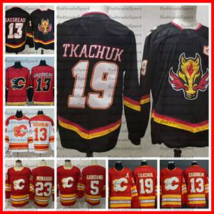 2021 Retro Retro Black Calgary Llamas Hockey Jerseys 19 Matthew Tkachuk 13 Johnny Gaudreau 5 Mark Giordano 23 Sean Monahan Steinsted Jersey