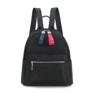 2020 new shoulder bag female new tide brand fashion casual student school bag waterproof Oxford cloth