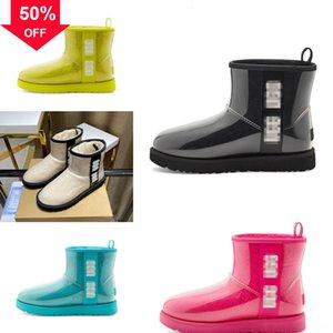 VMzBP Dossic d'hiver Bottes de neige pour les femmes imperméable Australie Chaussures bottes Slip isolé Non extérieure bordée de neige chaud Suede Classic Short M