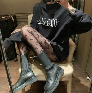 Old Fashion collant di seta ragazze nuovi bambini grandi pizzo lettera ricamo leggings di pizzo Lolitas foro della maglia della principessa collant donne fondi A4749