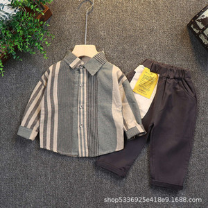 Boys' suit 0-1-2-3 years old 4 infants' new children's cloth in spring and Autumn