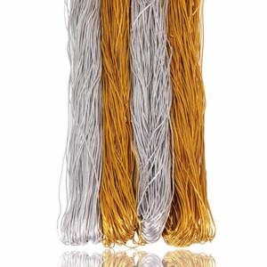 Moda 50m oro argento colore corde elastiche corde corde fili 1mm 1.8mm per Bracciale Bracciale perline fai da te collana gioielli trovando ACC JLLKDM
