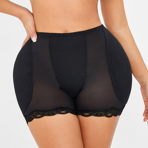 Mulheres Low Cintura Underwear Esponja Pads Body Shapers Hips Up Barriga Slim Fake Ass Calças Acolchoado Shapewear Calcinha Panties Hip Pads Plus Size